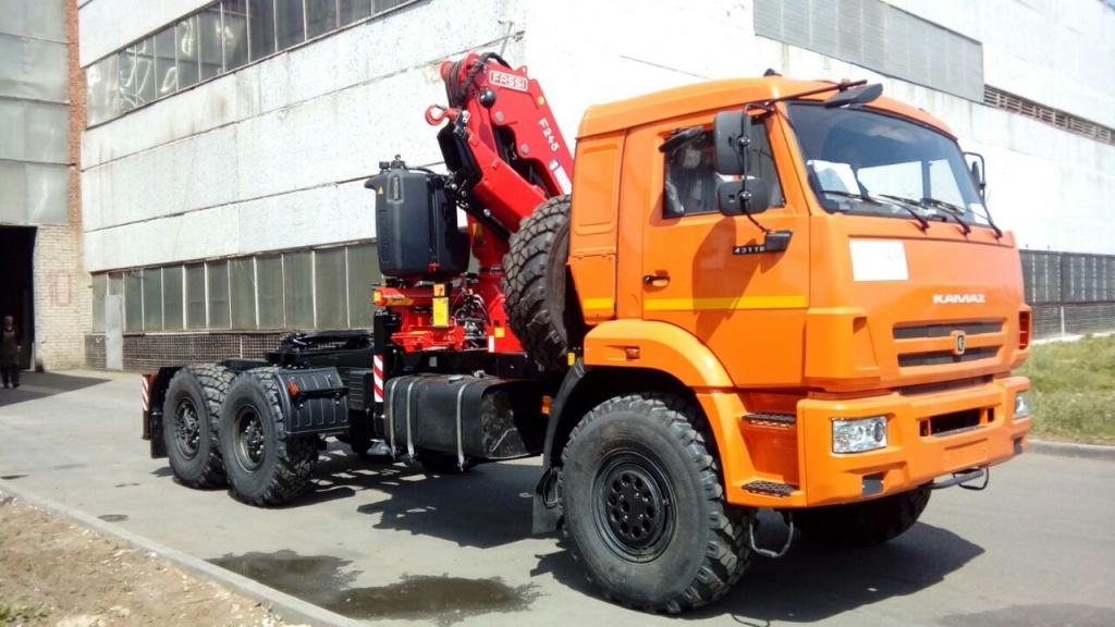 КАМАЗ 43118 с FASSI F245A.0.22